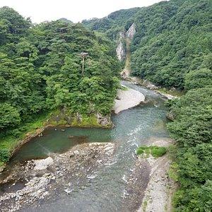 立岩橋 から見える鬼怒川