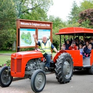 A ride on Puffin' Billy will take you round the perimeter of the park.  Tractor enthusiasts might like to know that the 2 land train carriages are pulled by a Massy Ferguson 135 built in 1976. (Tickets required)