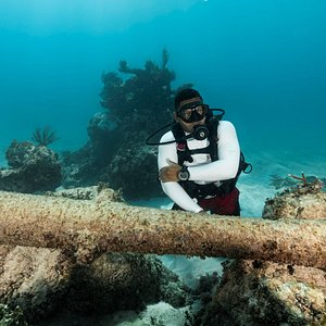 Underwater museum-Colosseum dive site in Playa Blanca. Holds remanence  of 16th century pirate ship.