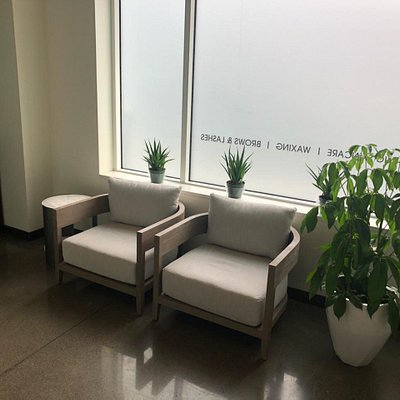 our new waiting area