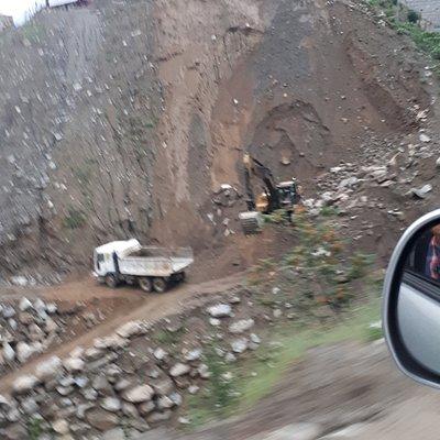 Road building near Lowari tunnel