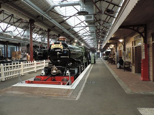 The Station Platform at STEAM – Museum of the Great Western Railway. This image features GWR locomotive No. 6000 King George V, on loan from the National Railway Museum.