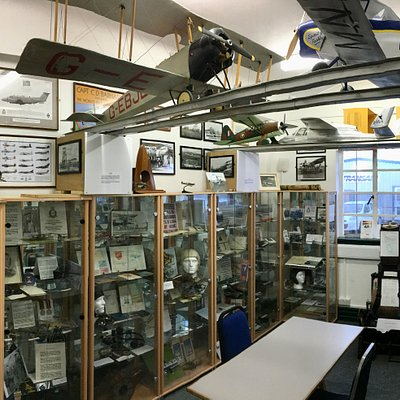 The Shoreham Airport Collection exhibition, displaying over 110 years of Shoreham Airport history.