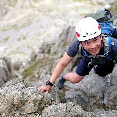 Scrambling on Bristly Ridge in Snowdonia