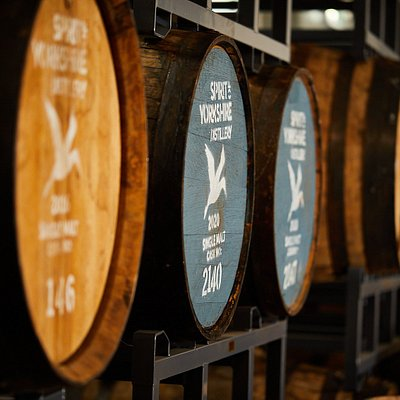 Casks maturing on the distillery floor. To be called whisky, distilled malt spirit must be aged for at least 3 years in oak barrels. We use a range of casks from the best cooperages and vineyards around the world.