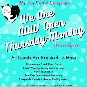 We are OPEN & Covid Compliant!
