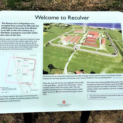 3.  Regulbium Roman Fort and the Wantsum Channel, Reculver, Kent