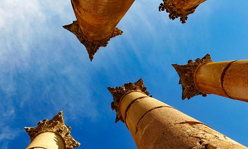 The columns of the temple of artemis aim at the sky