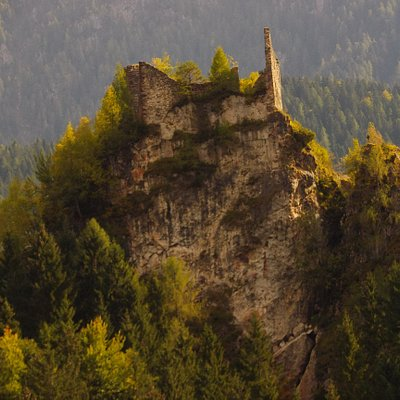 Castel Pietra - Absturzseite
