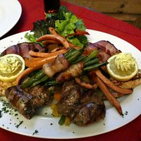 Our huge grilled meat and vege platter