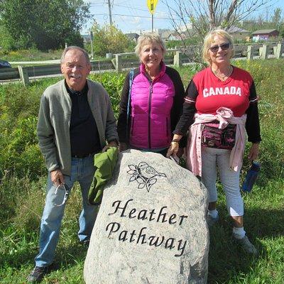 Start of walk at Heather Pathway trail
