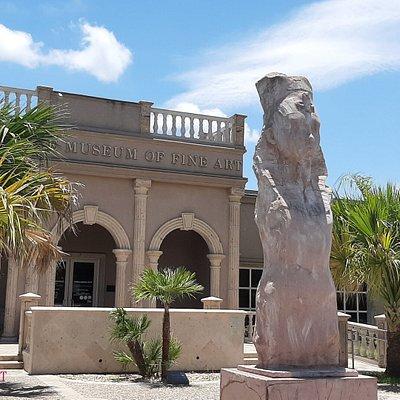 The BMFA's guardian statue.