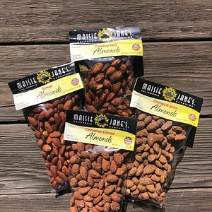 A selection of their roasted and flavored almonds