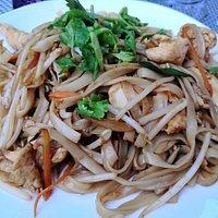 Plat ressemblant un peu au pad thaï (j'ai oublié le nom).