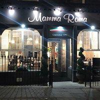 Mamma Roma dining area N2 street level , Modern