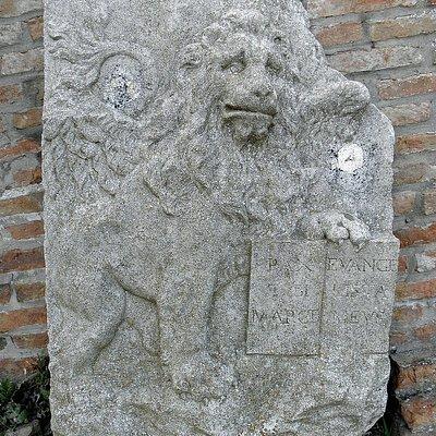 Basso rilievo al confine veneto-pontificio