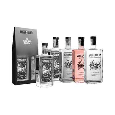 The Village Spirit Collective gin range developed with our local Ginfluencers.