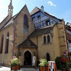 Chapelle Sainte Catherine à Ribeauvillé, autrefois chapelle et musée, actuellement sert de salle pour expositions temporaires.