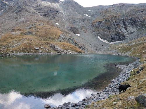 Il Lago Nero alle pendici dei 3000Mt.