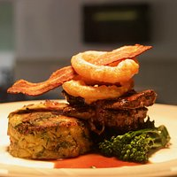 Calves liver with bubble and squeak