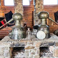 Old equipment for extraction of rose oil