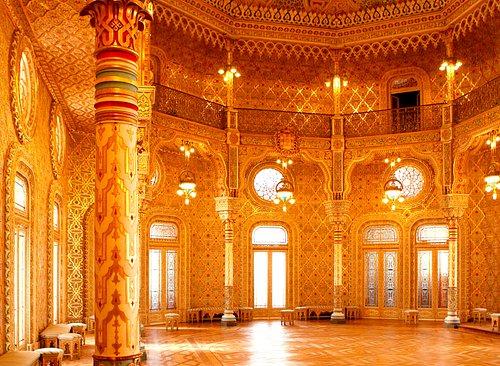 Salão Árabe. Foram precisos 18 anos para concluir esta sala.