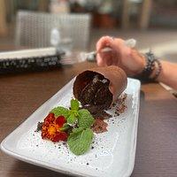 Spilled flower pot dessert