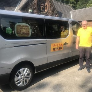 Our all NEW people carrier with coronavirus protective screen installed - carries up to six passengers from same party/group/bubble only - disinfected daily and throughout the tour
