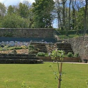 Mosaics at the walled garden