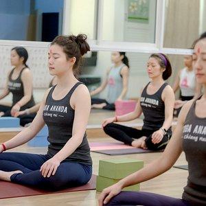 Alignment class of 200 Hrs Yoga teacher training in Sep 2020