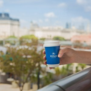 A cup of coffee at Hilton Buenos Aires