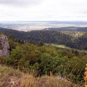 Uitzicht op Pontarlier