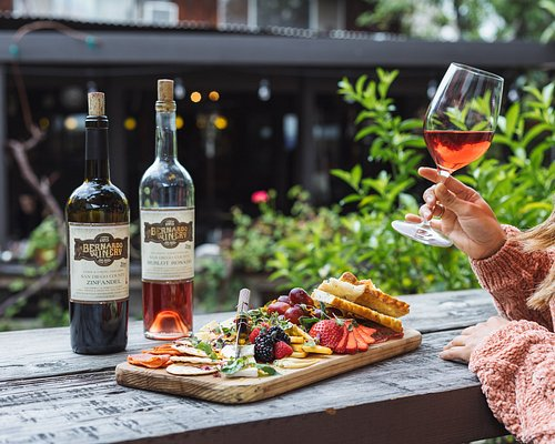 A cheese platter and some wine on the patio make a perfect date, day or night.