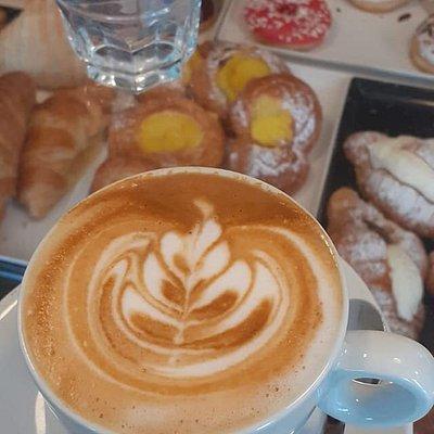 Cappuccino at Agorà Caffè