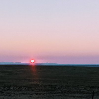 Sunset at a rest stop in Kansas!