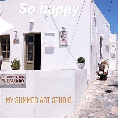 Gallery-art studio by athenian artist NikolaosA.Houtos