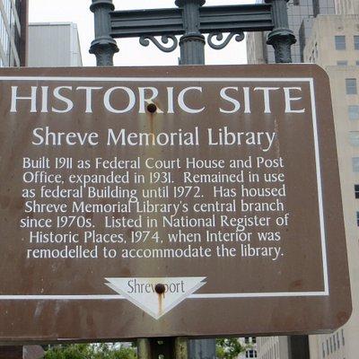 Historic 1911 Shreve Memorial Library. Shreveport, LA, Sep 2020