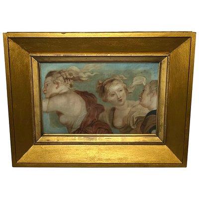 Original Renaissance Art Old Master Late 17th Century Painting The Three Graces