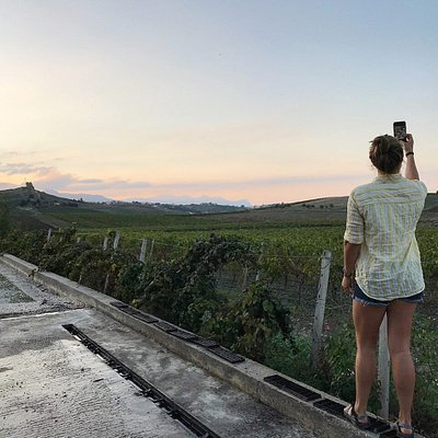 Il tramonto a cornice di un wine tour da raccontare