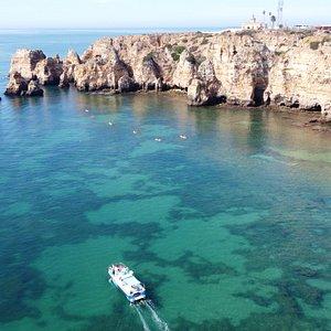 Ponta da Piedade and Catamaran Freddie II