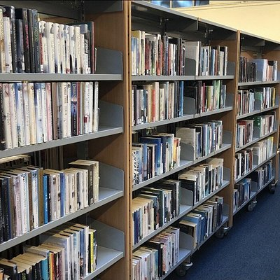 Inside Airdrie Library.