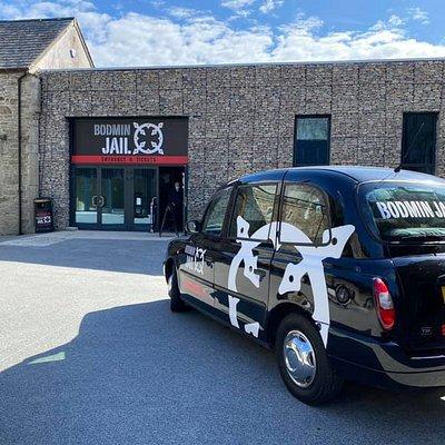Bodmin Jail Attraction entrance & public service vehicle