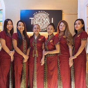 Equipo de Terapeutas Tailandesas de Thai Spa Massage Barcelona