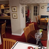 Our downstairs seating area, a cool haven on hot days or a cosy snug on a winters evening.