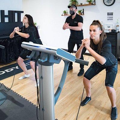 Séance de sport avec electro stimulation et coaching