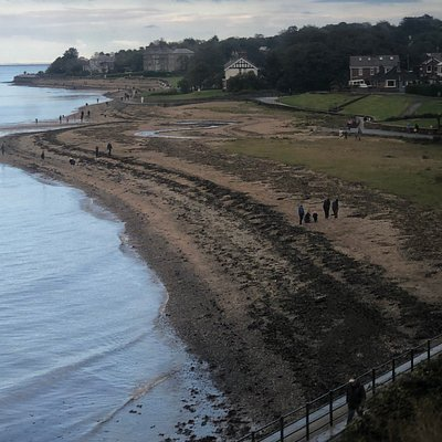 Beach walk near Holywood, very convenient to railway station and town centre. Swim possible, subject to weather and season!