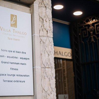 L'entrée Villa Thalgo Club & Spa