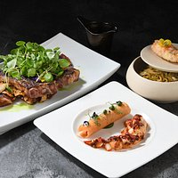 Lu Ban Steak and Lobster dishes