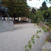 Socha - Statue equestre du General Guisan
