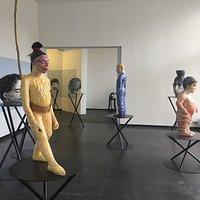 Exposition in the De Garage ; work from Maen Florin , Stefan Serneels and Xavier Noiret-Thome
